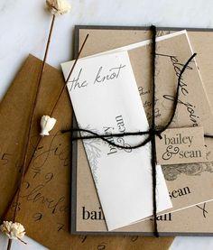 Rustic weeding invitations