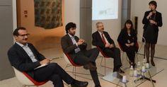 Il noto critico della Fondazione Cini alla serata per l'artista De Marchi ora a palazzo Fortuny