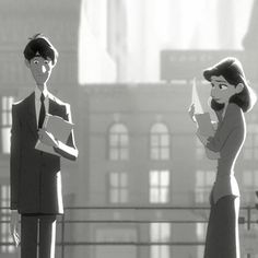 Paperman. Greatest short film ever!!!  Is only me or they really look like Anita and Roger from 101 Dalmatians?