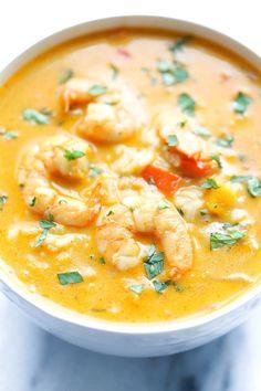 Easy Thai Shrimp Soup | Food Recipes
