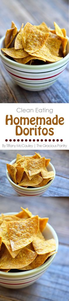Get in ma belleh! These delicious healthy chips are the perfect replacement for junky, chemical-filled Doritos, and they are super easy to make!(Vegan Dip For Chips) Doritos Recipes, Snack Recipes, Cooking Recipes, Healthy Recipes, Weight Watcher Desserts, Healthy Chips, Healthy Treats, Healthy Food, Mini Desserts