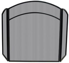 Uniflame® 3-Panel Black Wrought Iron Fireplace Fire Screen with Arched Top