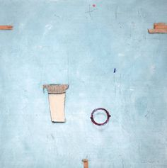 Artist: Cole Morgan (1926): 'navy'; Mixed media on canvas 150 x 150 cm