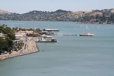 Sausalito waterfront and ferry - Marin County, CA