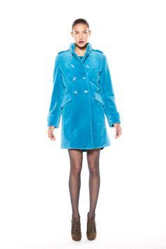 blue dyed sheared mink coat Mink, Fall Winter, Shirt Dress, Coat, Casual, Blue, Shirts, Dresses, Style