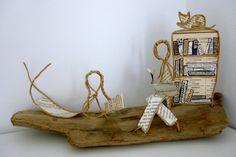 Des enfants et des livres - Figurines en ficelle et papier