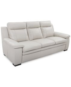 Zane Leather Sofa - Furniture - Macy's