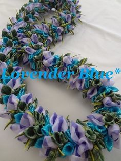 Lovender Blue - Monstera In Hawaii* Wai Lani* Ribbon Lei* リボンレイ メイキング 自宅教室