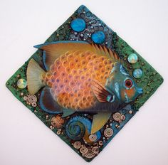 Tropical Fish Mosaic Tile by MandarinMoon on DeviantArt