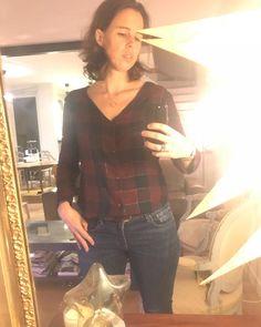 Et hop une petite chemise #aimecommemiroir de @aime_comme_marie avant d'aller dormir avec un reste de cette belle viscose à carreaux #jeportecequejecouds tissu de chez @cousette