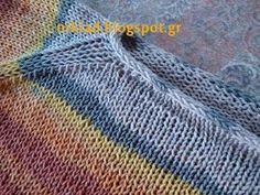 ανοιξιάτικο πουλόβερ με δαντελένια μπορντούρα Η πλέξη που χρησιμοποίησα για τη μπορντούρα στα μανίκια και στο κάτω μ...