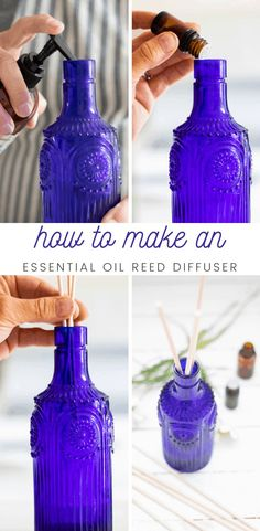 Learn how to make a homemade essential oil reed diffuser with this simple tutorial. Receive the amazing aromatic benefits of essential oils and fill your home with a beautiful scent without having to purchase a diffuser!  #reeddiffuser #diyreeddiffuser #howtomakeadiffuser #essentialoildiffuser