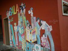 Sala de Leitura no Parque Municipal de Petrópolis, no distrito de Itaipava/RJ. Arte: Leila Sá Peixoto.