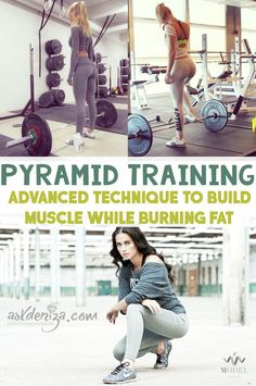 Try pyramid training styles if you want to build muscle while burning fat! 3 FREE workouts you need to try at the end! @fitwithdeniza Similar to what I have been doing, going to look more at other people's routines.