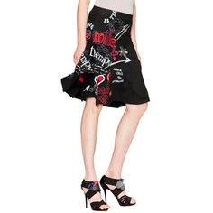This would be wicked looking with my red spike stilettos!