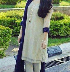 Image by Lovely S. Fancy Dress Design, Stylish Dress Designs, Velvet Dress Designs, Dress Neck Designs, Pakistani Fashion Party Wear, Pakistani Outfits, Latest Pakistani Fashion, Simple Pakistani Dresses, Pakistani Dress Design