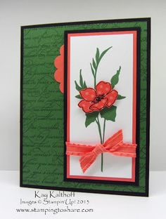 Stamping to Share, Stampin' Up!, Fabulous Florets, Kay Kalthoff, En Francais