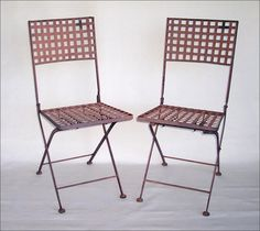 Folding Metal Bistro Chairs ~ Chair Stools Benches ~ Accent Furniture ~ Online Flea ~ Artisanaworks