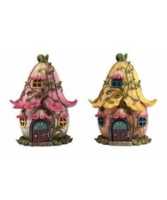 Look at this #zulilyfind! Yellow Fairy House Figurine #zulilyfinds