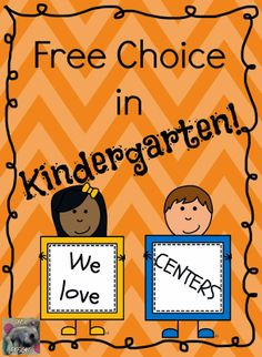 Great ways to integrate choice into centers in Kindergarten. This post has a lot of good tips!