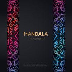 luxury wedding invitation with mandala Free Vector Mandala Pattern, Mandala Design, Mandala Background, Pattern Background, Graphic Wallpaper, Minimal Wallpaper, Free Frames, Beautiful Flowers Wallpapers, Photo Texture
