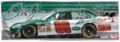 #88 Dale Earnhardt Jr AMP 2' x 6' Vinyl Banner by DK HUSKY RACING. $69.99. High quality Licensed Indoor / Outdoor Vinyl Banners are bold in both color and size, Great for tailgating, NASCAR parties, RV's great for Game Rooms and just about anything else you can dream of putting up and show every one that you are part of NASCAR Nation With these banners you can scream your team allegiance in the parking lot. Each are finished with weather resistant brass grommets. Made in ...
