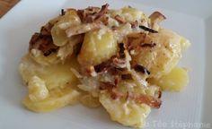 La Fée Stéphanie: Tartiflette végétalienne: fromage fondant 100% végétal, oignons et lamelles de tofu fumé grillés