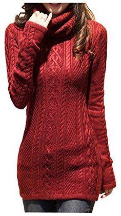 V28® Women Polo Neck Knit Stretchable Elasticity Long Sleeve Slim Sweater Jumper (US SIZE 0-4, Wine) v28 http://www.amazon.com/dp/B00N4UDDKW/ref=cm_sw_r_pi_dp_I-nGub02W5C3J