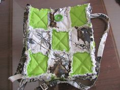 New White Mossy Oak and Lime Green Crossbody / Hipster / Hippie Bag $20.00 by morethanbearscrafts on Etsy