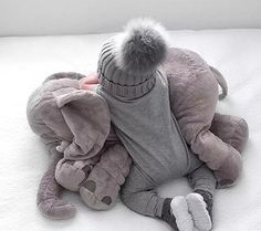 Infant Baby Toy ELEPHANT Sleeping PILLOW Plush by TheElephantStore