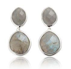Medium Nugget Drop Earrings- Labradorite