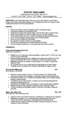 resume nurse resume example