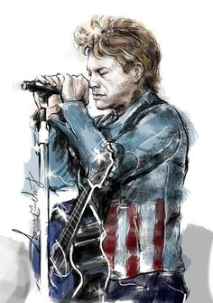 Jon Bon Jovi digital work by Wacom