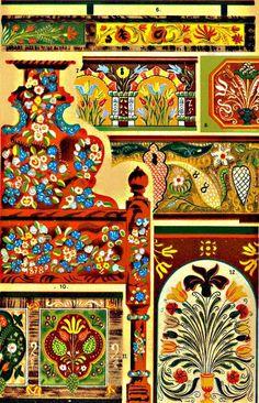 Hungarian painted wood furniture Magyar festett fabútor  (forrás: OSZK)