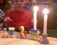 give a lovely tradition: birthday train decoration to use year after year , a keepsake to treasure Cute Birthday Gift, Baby First Birthday, First Birthday Parties, First Birthdays, Cute Baby Gifts, Best Baby Gifts, Best Toddler Gifts, Cute Presents, Cute Babies