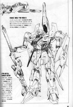 SCHRECK G Cyberpunk, Manga Anime, Zeta Gundam, Gundam Mobile Suit, Sci Fi Armor, Gundam Wing, Robot Concept Art, Super Robot, Art Pictures