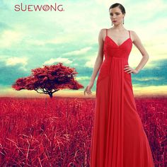 SUE WONG sleeveless pleated long gown with front waterfall panel.  #teamsuewong #suewong #fashion #hautecouture #couture #picoftheday #glamorous #colorful
