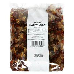 Haribo Happy-Cola gummy bottles look like real pop bottles and have a real cola flavor. They come in attractive two-toned color and are packed in bags. Mario Party Games, Super Mario Cake, Pop Bottles, 5 Pounds, Gummi Candy, Gourmet Recipes, Sweets, My Love, Sugar Sugar