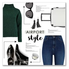 """""""Airport Style!"""" by lilymillyrose ❤ liked on Polyvore featuring CalPak, River Island, Lowie, Gucci, Dolce Vita, Venus and airportstyle"""