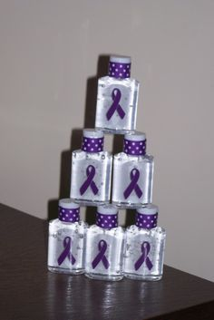 Hand Sanitizers for Relay for Life, cute idea for the survivor bags