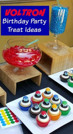 Voltron Birthday Party Treat Ideas with Cupcake Tutorial! - Thrifty Jinxy
