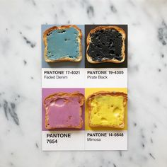 "⚜️⚜️ Lucia Litman on INSTAGRAM ⚛️ #PantonePosts ...... (@lucialitman) on Instagram: ""Rainbow toast made with superfood infused coconut butter from @pearlbutter #pantoneposts"""