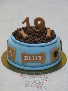 Puppy Birthday Cakes, Puppy Birthday Parties, Cool Birthday Cakes, Puppy Party, Birthday Ideas, Dog Cupcakes, Cupcake Cakes, Vet Cake, Bulldog Cake