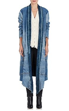 We Adore: The Patchwork Denim Kimono Coat from Greg Lauren at Barneys New York