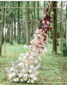 Unique Wedding Ceremony Flowers, Ombre Wedding Flowers