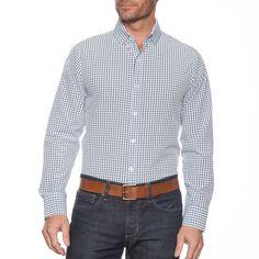 """""Franklin"""" | Blue & Navy Check Dress Shirt"