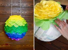 Ombre Petal Globe Piñata | 20 Ways to Make a Piñata