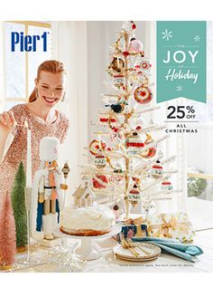Pier 1 Imports - December 2019 Mailer - Page 1 Leather Counter Stools, Velvet Armchair, Grommet Curtains, Pier 1 Imports, Nailhead Trim, Design Trends, Holiday, Christmas, Wall Decor