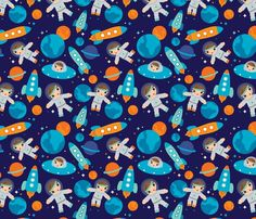 Astronaut outer space rocket  littlesmilemakers