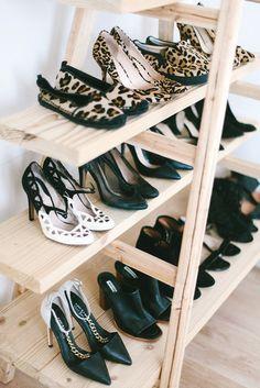 DIY Ladder Shoe Shelf www.apairandasparediy.com